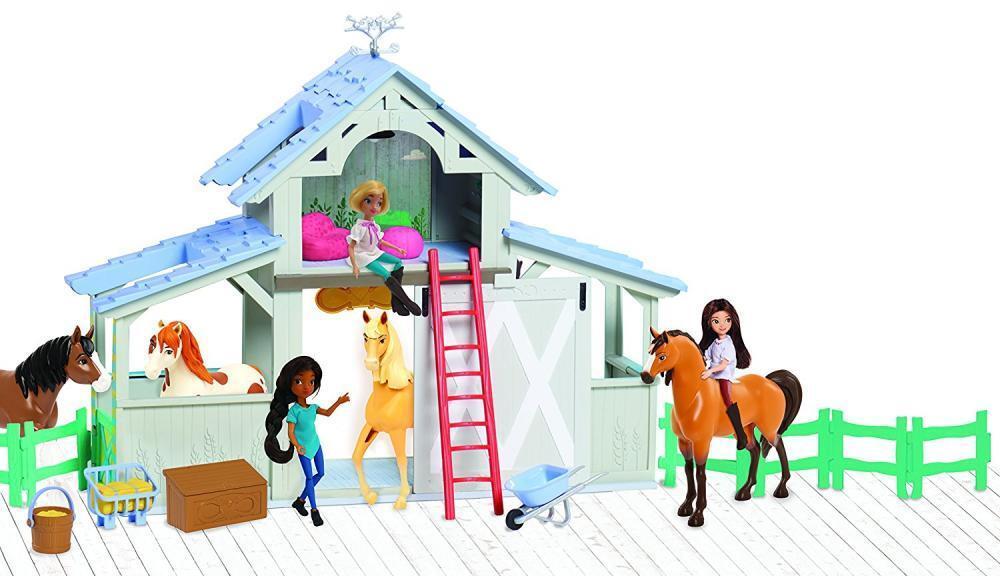 Kids Spirit Play Set Horse Barn Stable Toy Pretend Toddler Gift Boy Girl NEW