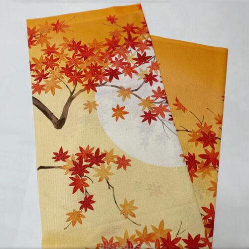 Japanese Noren Curtain Moon Maple Leaf Print Room Door Doorway Divider Tapestry