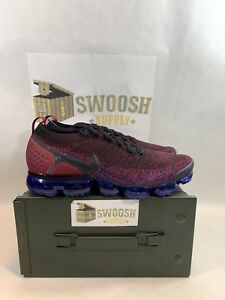 NIKE AIR VAPORMAX FLYKNIT 2 BLACK TEAM RED RACER BLUE 942842-006 ... 9adca67a0
