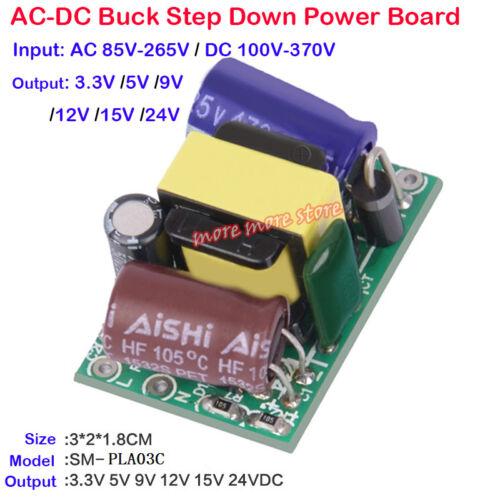 3W AC-DC 110V 220V to 3V 5V 9V 12V 15V 24V Step Down Volt Power Supply Converter
