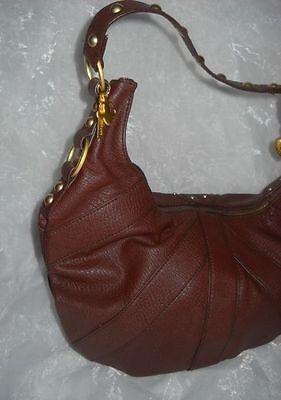 Friis&Company Beutel Henkel Tasche Shopper Bag dunkel braun Lederimitat Nieten