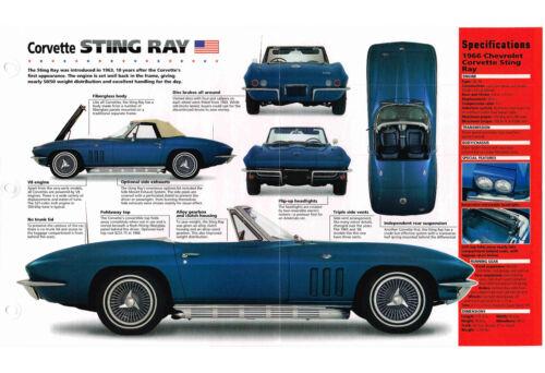 CHEVROLET CORVETTE STING RAY SPEC SHEET//Brochure:1966,