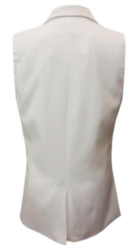 mouwloze witte Ajoy Volledig zakken blazer met gevoerd OUZZ5vwqgR