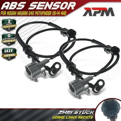 ABS Sensor für Nissan Navara D40 Pathfinder 05-14 4WD Vorne Links Rechts