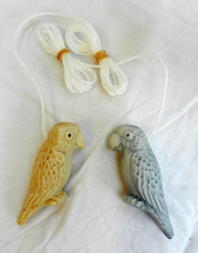Ceramic Parrot Light Cord Pull BNIB Macaw Cord Pull