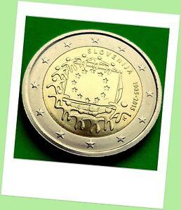 2-Euro-Gedenkmuenze-Slowenien-2015-Gemeinschaftsausgabe-30-Jahre-Europa-Flagge