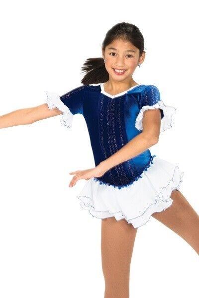 Jerry's bluee Figure Skating Dress Girls 8-10