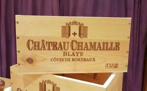 3 X Genuine French Wooden Wine Crate * Boîte Planteur Enfants Tiroirs De Rangement +-afficher Le Titre D'origine Emballage Fort