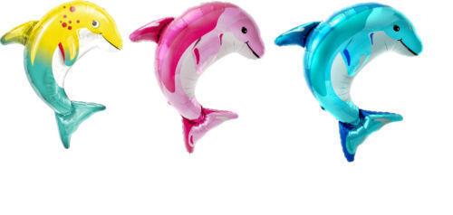 "Large 31/"" Dolphin Helium or Air Foil Balloon Sea Summer Ocean Birthday Fish"