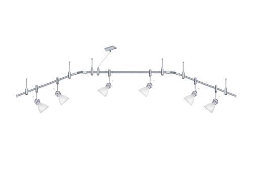 Paulmann 97334.6 système de rail phantom phara titan//satin incl 6x LED g9 3,5w
