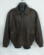 Mens Orvis Leather bomber jacket size XL