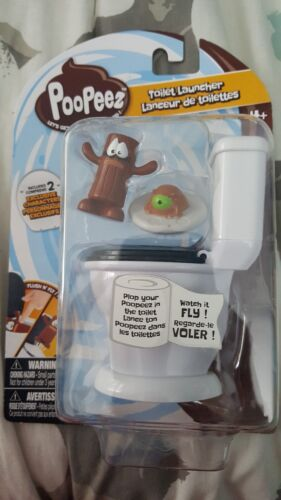 POOPEEZ TOILET LAUNCHER~INCLUDES 2 EXCLUSIVE POOPEEZ CHARACTERS~FOR AGES 4+~NEW