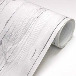 Vintage White Wood Panel Self Adhesive Vinyl Wallpaper