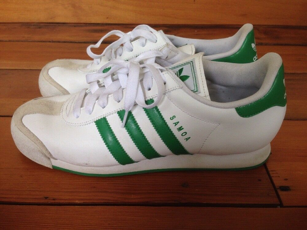 Adidas Samoa Classic White Green Leather Mens Athletic Sneakers Shoes 10 44 Cheap women's shoes women's shoes