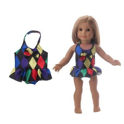 Colorful Swimsuit Swimwear Outfit for 18inch AG American Doll Dolls Sportswear
