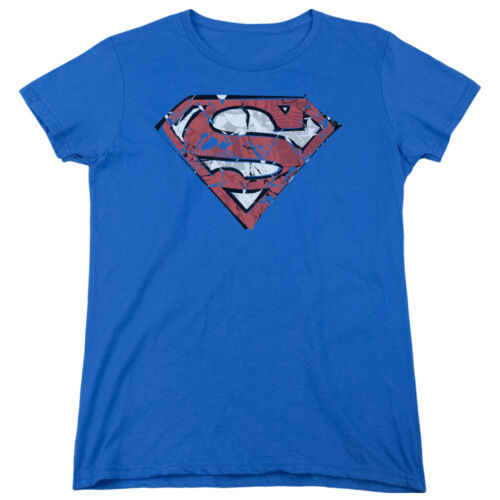 Superman RIPPED AND SHREDDED Licensed Women/'s T-Shirt All Sizes