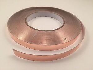 "1/2"" x 55 yards Copper Foil Tape- EMI Shielding- Conductive-165' 50M"