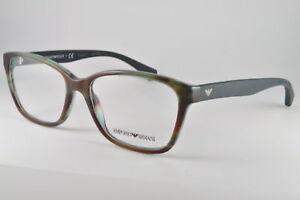wähle das Neueste viele modisch bezahlbarer Preis Details about Emporio Armani Eyeglasses EA 3060 5388 Striped Green, Size  54-16-140