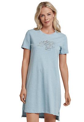 Schiesser Donna Camicia da notte 90 cm Sleepshirt a maniche corte 36 38 40 42 44 46 48