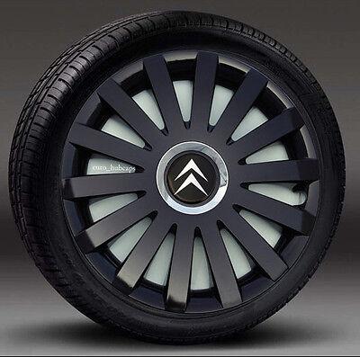 "Full set of 14/""  wheel trims Covers to fit Citroen Saxo Hub Caps"
