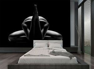Image Is Loading Black Colour Sexy Prayer Yoga Wall Mural Photo