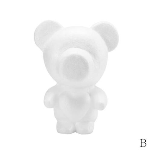 White Polystyrene Styrofoam Foam Bear Modelling DIY Valentine Birthday Re