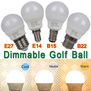 E14-B22-E27-B15-4-5W-LED-Ampoule-LED-Lamp-Dimmable-Globe-ES-SES-BC-SBC-Downlight