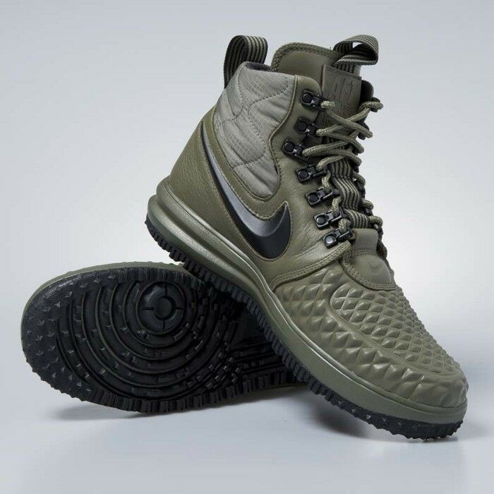 Mens Size 9 NIKE LUNAR FORCE 1 Duckboot '17 Leather shoes 916682-202 LF1 Olive