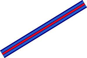 Le-Mans-Martini-style-Stripe-156-cm-x-18-cm-long-Sticker-decal-A648Q
