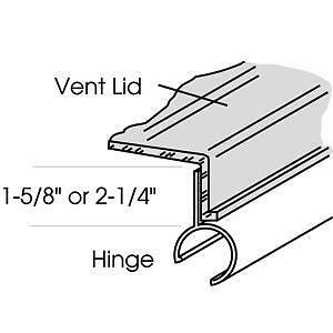 Heng's 90082-C1 Series 20000 Old Style 14in Elixir Roof White Vent Cover