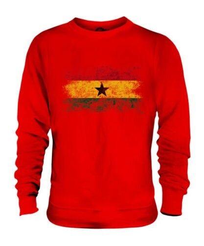 Ghana Drapeau Délavé Unisexe Pull Ghanéen Maillot de Football Cadeau