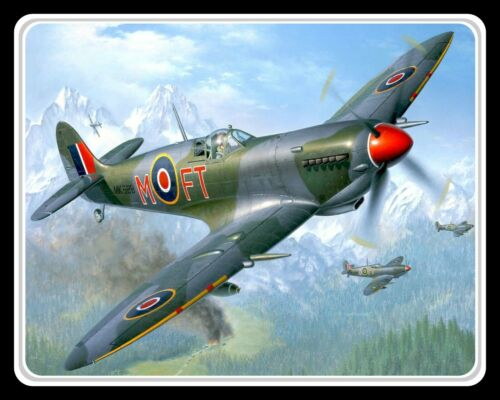 10 x 8 SPITFIRE RAF ROYAL AIR FORCE FIGHTER PLANE AIRCRAFT METAL PLAQUE SIGN 075