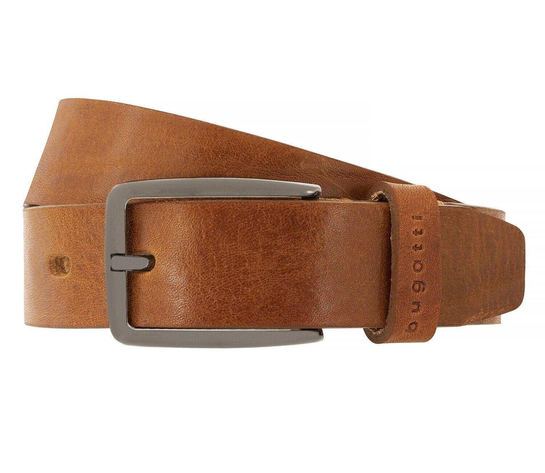 Bugatti Men's Belt Leather Belt Men's Belt Full Cowhide Leather Belt Cognac 4441