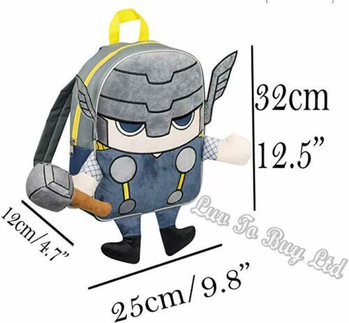Official Licensed Marvel Avengers Thor Embroidered Plush Front Backpack