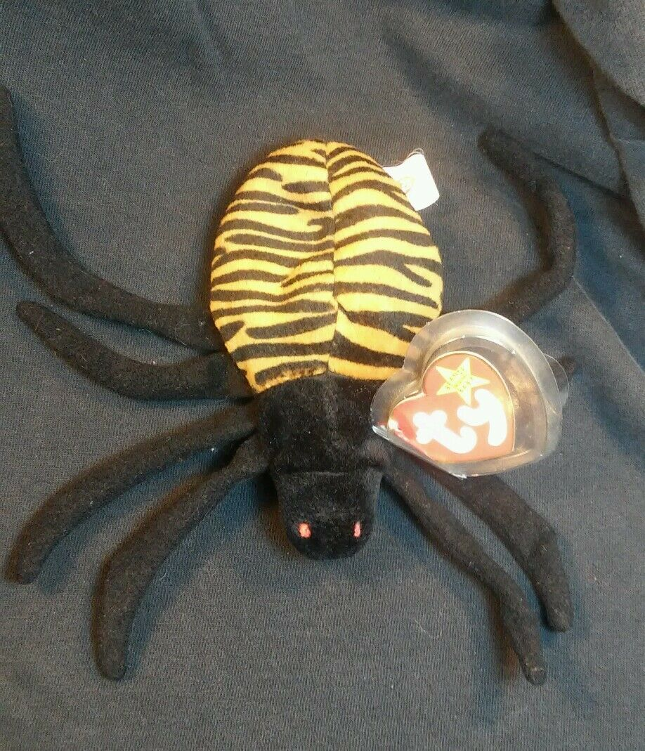 Rare Retired Beanie Babies Spinner The Spider Spider Spider Plush Toy  errors PE Pellets 1af0a7