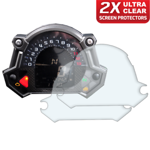 Speedo-Angels 2 x Kawasaki Z400 Z650 Z900 2017 Dashboard Screen Protector Ultra-Clear