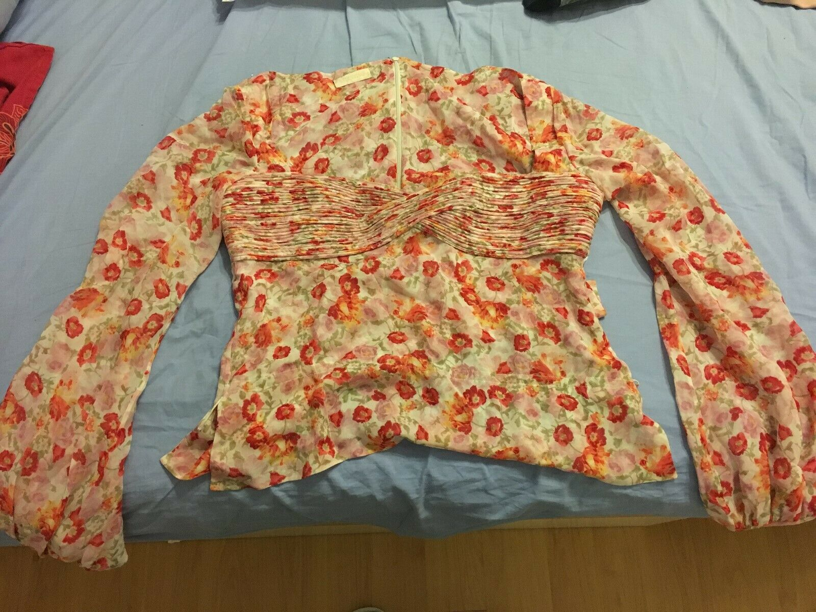 VALENTINO 100% silk floral print blouse