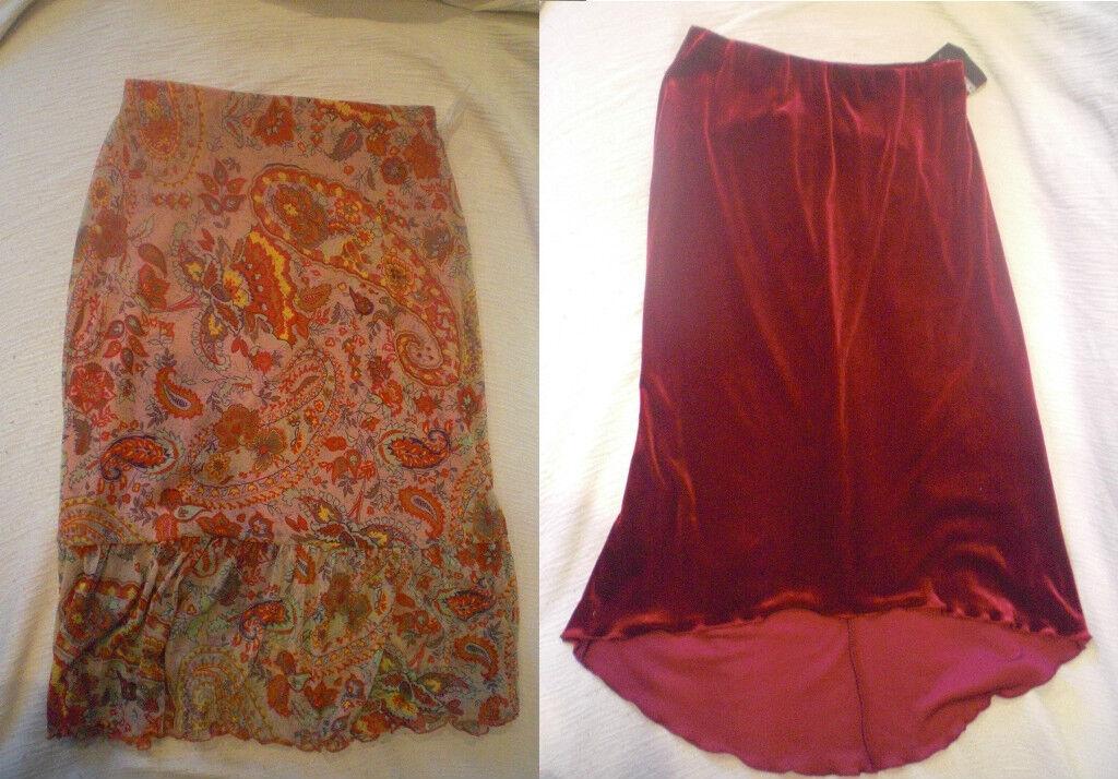 SET 2 SKIRTS woman Size MEDIUM  38 NEW woman dress clothing caymaris REF. 2-5