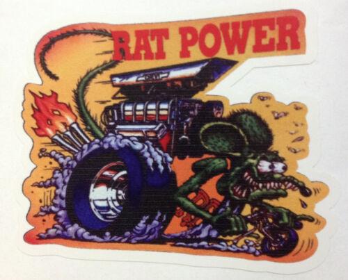 RAT ROD HOT ROD STREET ROD  DECAL STICKER CHOPPER  BOBBER RAT POWER