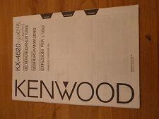 Kenwood KX-4520 - Bedienungsanleitung - Gebruiksaanwijzing - Instruzion L'Uso