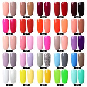 Esmalte-de-unas-de-gel-R-S-Barniz-UV-LED-soak-off-Laquer-Nude-Rojo-Naranja-2-Colores-Set