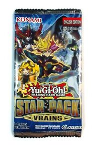 Konami Yu-Gi-Oh! Star Pack Vrains 1 loose Booster Pack, New and Sealed