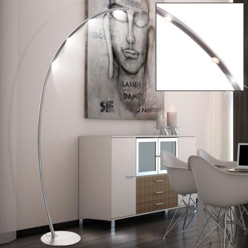 Luxus LED Steh Leuchten Dielen Touchdimmer Stand Lampen Bogen Big Light