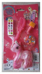 Il-mio-amico-pony-piccolo-rosa-floccato-accessori-tipo-my-little-pony-vintage