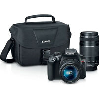Canon EOS Rebel T6 SLR Camera, EF-S 18-55mm, 75-300mm IS II Double Zoom Lens Kit