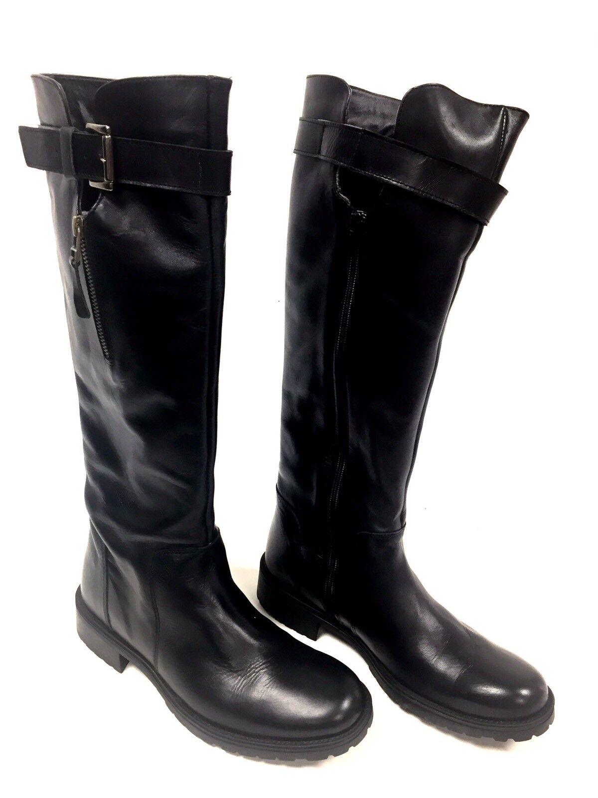 kvinnor svart läder läder läder pascal morbito storlek 39 fr  8 oss  lycklig shopping