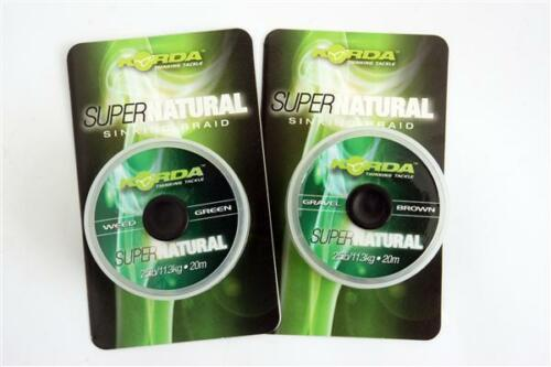 25lb /& Green Brown korda Supernatural Braid Hooklink 18