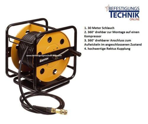 Stanley Bostitch Druckluft Schlauchtrommel 360° 30meter für Kompressor CPack 30