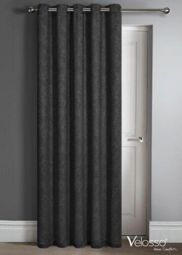 Thermal Damasco Hecho Listo Anillo Superior Cortina Panel Luz la reducción de la puerta