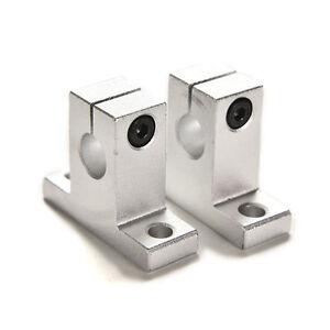 2PCS SK10 10mm Bearing CNC Aluminum Linear Rail Shaft Guide Support OJ
